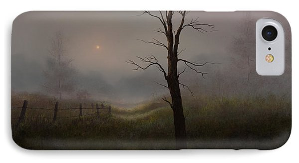 IPhone Case featuring the painting Foggy Woods by Sena Wilson