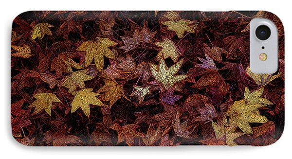 Foil Leaves Phone Case by Robert Ball