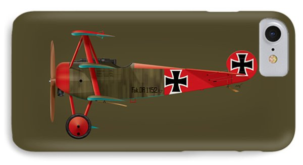 Fokker Dr.1 - 152/17 - March 1918 IPhone Case