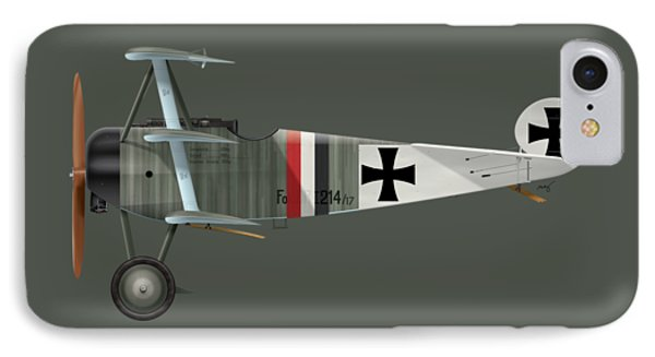 Fokker Dr.1 - 214/17 - March 1918 IPhone Case