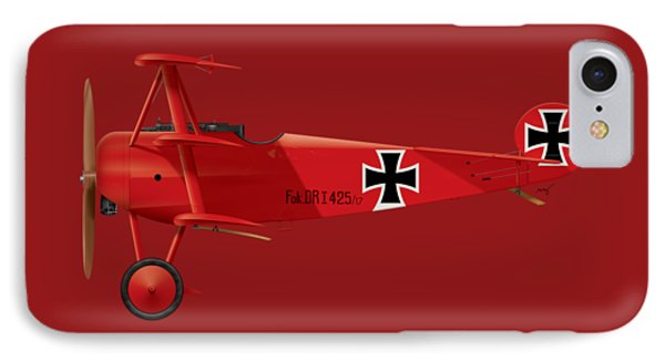Fokker Dr.1 - The Red Baron - March 1918 IPhone Case