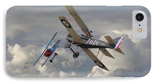 IPhone Case featuring the digital art Fokker Dvll And Se5 Head To Head by Pat Speirs