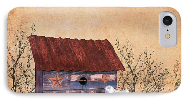 Folk Art Birdhouse Still Life IPhone Case by Tom Mc Nemar