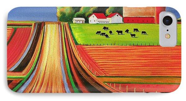 Folk Art Farm Phone Case by Toni Grote