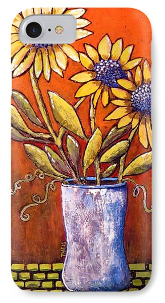 Folk Art Sunflowers IPhone Case