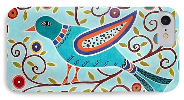 Folk Bird Phone Case by Karla Gerard