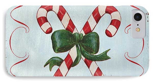 Folk Candy Cane IPhone Case by Debbie DeWitt