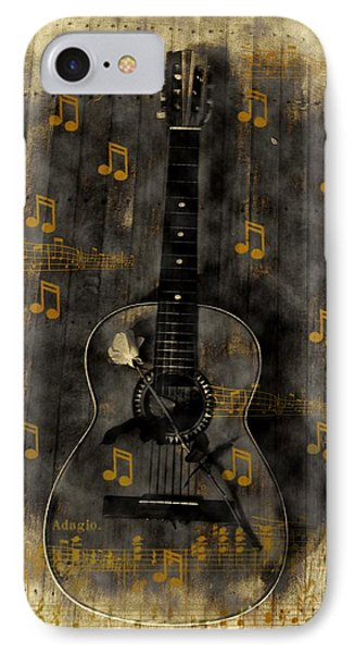 Folk Guitar Phone Case by Bill Cannon