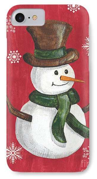 Folk Snowman IPhone Case by Debbie DeWitt