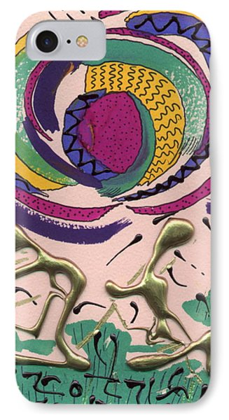 IPhone Case featuring the mixed media Follow Me by Angela L Walker