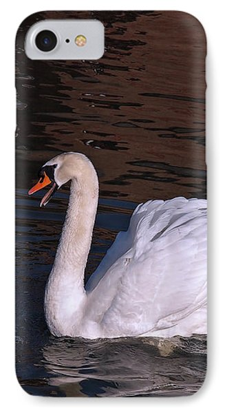 Follow Me - Pair Of Mute Swans - Wings Up IPhone Case by Gill Billington