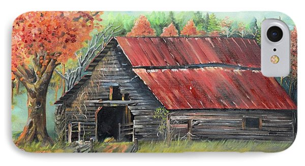 IPhone Case featuring the painting Follow The Lantern - Early Morning Barn- Anne's Barn by Jan Dappen