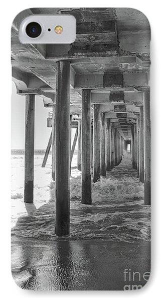 Follow The Lines Under Huntington Beach Pier IPhone Case by Ana V Ramirez