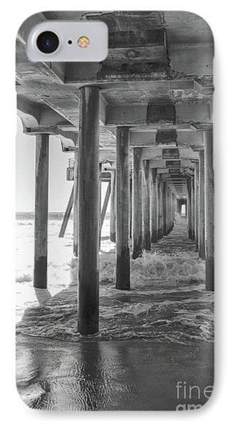 IPhone Case featuring the photograph Follow The Lines Under Huntington Beach Pier by Ana V Ramirez