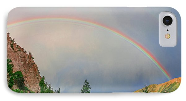 Follow The Rainbow To The Majestic Rockies Of Colorado.  IPhone Case by Bijan Pirnia