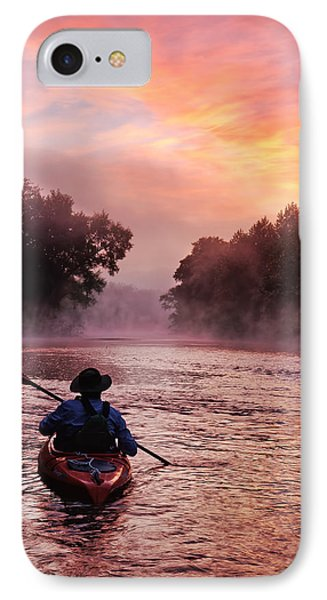 Following The Light IPhone Case by Robert Charity