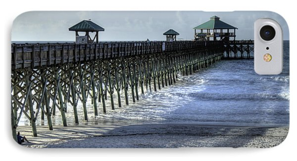 Folly Beach Pier IPhone Case by Dustin K Ryan