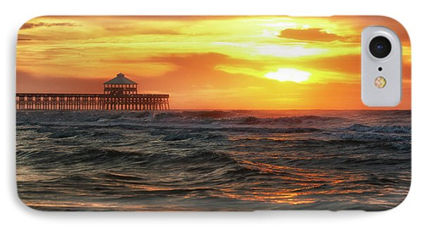 Folly Beach Pier Sunrise IPhone Case