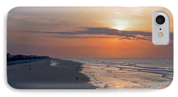 Folly Beach Sunrise IPhone Case by Meta Gatschenberger