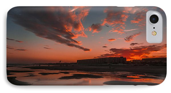 Folly Beach Sunset IPhone Case by RC Pics