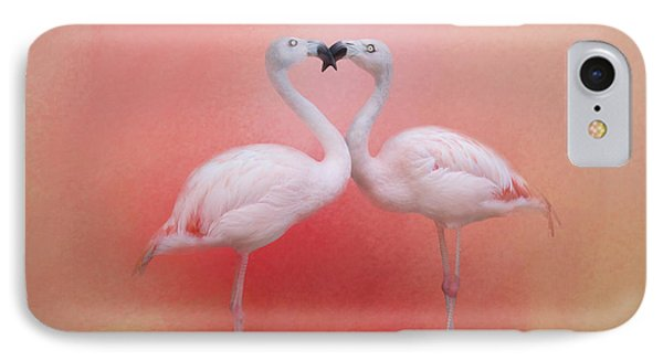 Fond Flamingos IPhone Case