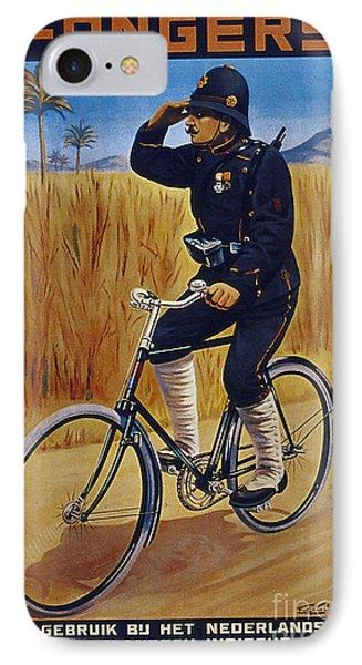 Fongers In Gebruik Bil Nederlandsche En Nederlndsch Indische Leger Vintage Cycle Poster IPhone Case by R Muirhead Art