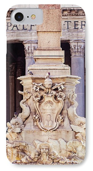 IPhone Case featuring the photograph Fontana Del Pantheon - Pantheon Fountain II by Melanie Alexandra Price