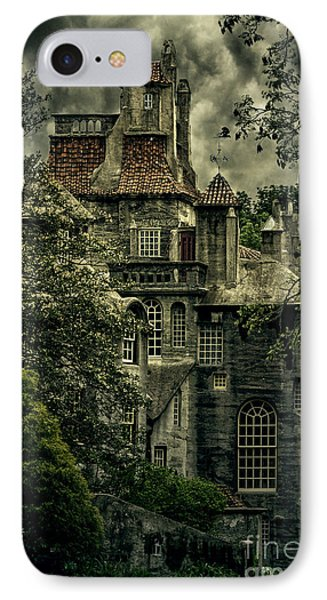 Fonthill With Storm Clouds IPhone Case by Debra Fedchin