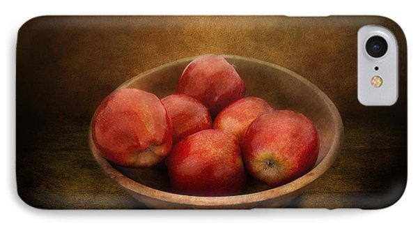 Food - Apples - A Bowl Of Apples  Phone Case by Mike Savad