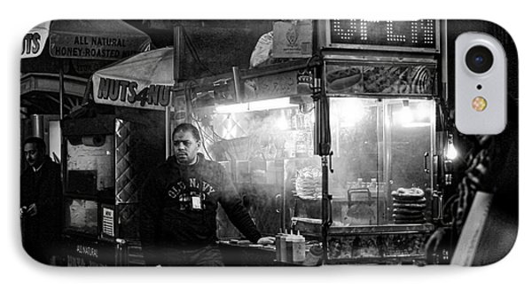 Food Vendor In Nyc IPhone Case by Kate Purdy