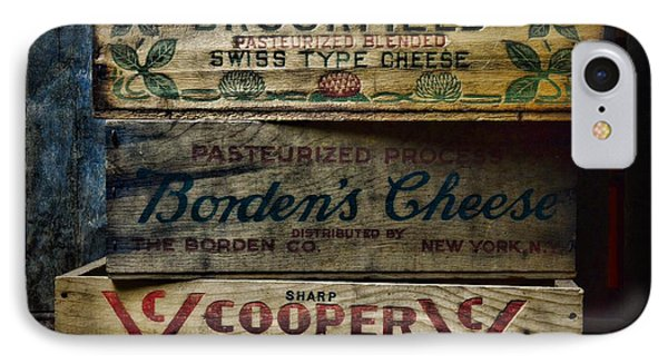 Food - Vintage Wooden Cheese Boxes IPhone Case by Paul Ward