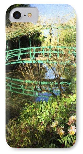Foot Bridge Reflections In Monet's Garden IPhone Case