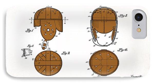 Football Helmet 1922 - White IPhone Case