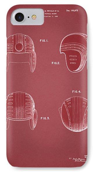 Football Helmet 1935 - Red IPhone Case