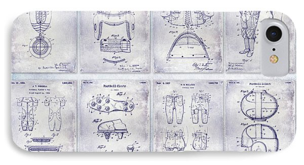 Football Patent History Blueprint IPhone Case by Jon Neidert