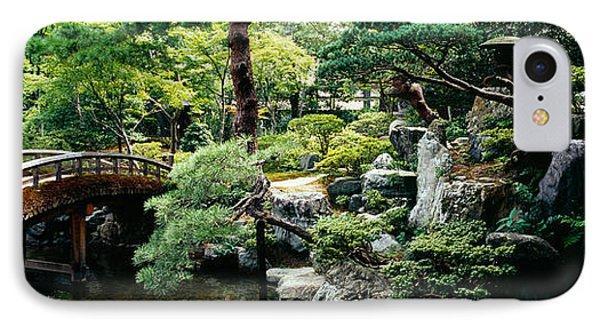 Footbridge Across A Pond, Kyoto IPhone Case