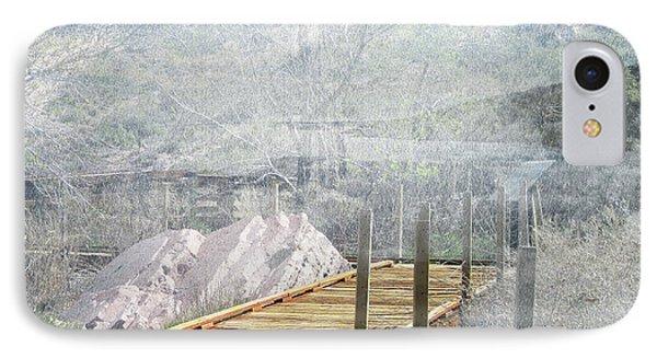 Footbridge In The Clouds IPhone Case