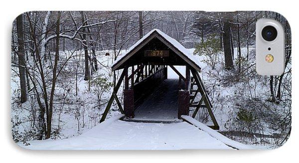 Footbridge To Wonderland IPhone Case by Scott Kingery
