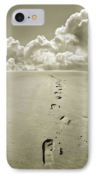 Footprints In Sand Phone Case by Mal Bray