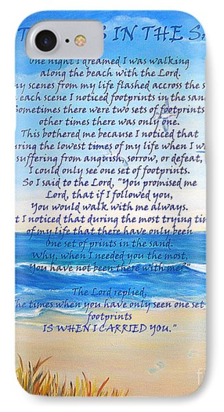 Footprints In The Sand IPhone Case by Shelia Kempf