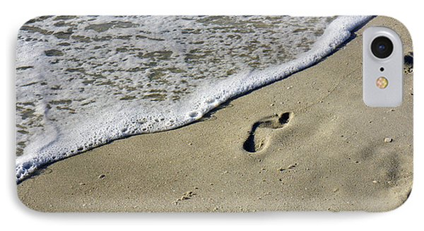 Footprints On The Beach IPhone Case