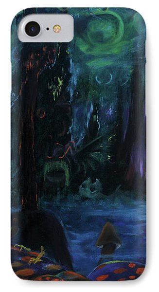 IPhone Case featuring the painting Forbidden Forest by Christophe Ennis