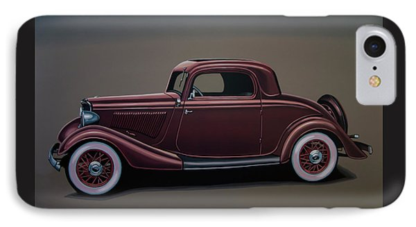 Ford 3 Window Coupe 1933 Painting IPhone Case