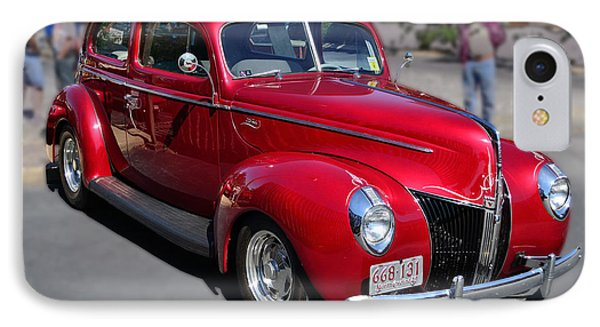 IPhone Case featuring the photograph Ford 40 In Red by Larry Bishop
