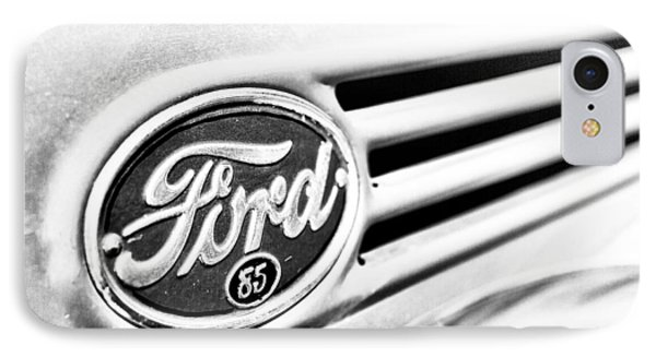 IPhone Case featuring the photograph Ford 85 In Black And White by Caitlyn Grasso
