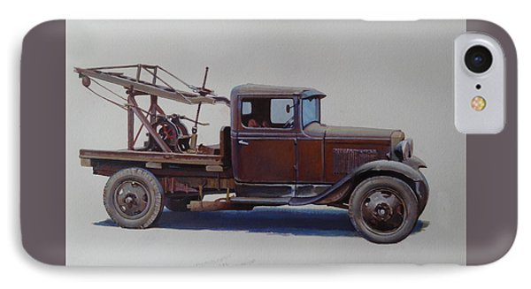 IPhone Case featuring the painting Ford A Type Wrecker. by Mike  Jeffries