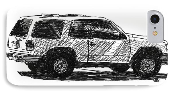 Ford Explorer IPhone Case by Eric Tressler