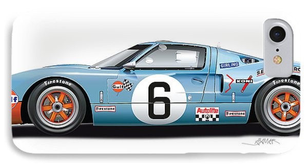 Ford Gt 40 1969 IPhone Case by Alain Jamar