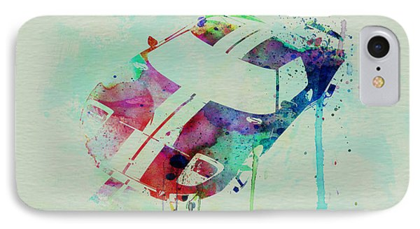 Ford Gt Top Watercolor  IPhone Case by Naxart Studio
