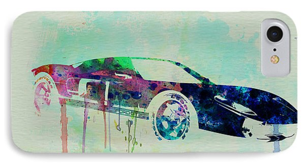 Ford Gt Watercolor 2 IPhone Case by Naxart Studio